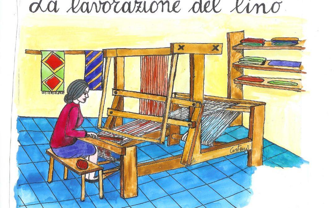 la lavorazione del lino